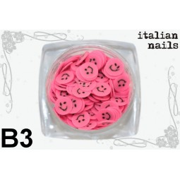 Italian Nails - Buźki Fimo - Woreczek 10 sztuk - B03