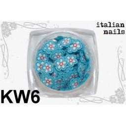 Italian Nails - Kwiatki Fimo - Woreczek 10 sztuk - KW06