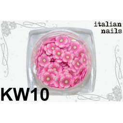 Italian Nails - Kwiatki Fimo - Woreczek 10 sztuk - KW10