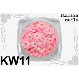 Italian Nails - Kwiatki Fimo - Woreczek 10 sztuk - KW11