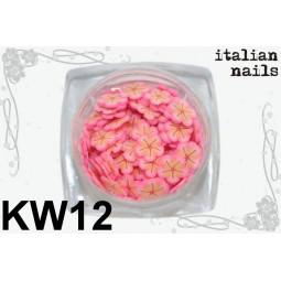 Italian Nails - Kwiatki Fimo - Woreczek 10 sztuk - KW12