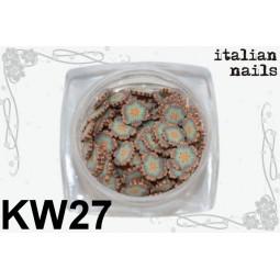 Italian Nails - Kwiatki Fimo - Woreczek 10 sztuk - KW27