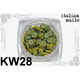 Italian Nails - Kwiatki Fimo - Woreczek 10 sztuk - KW28