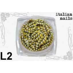 Italian Nails - Listki  Fimo - Woreczek 10 sztuk - L02