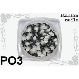 Italian Nails - Pawie Oczka - Woreczek 10 sztuk - PO3