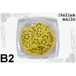 Italian Nails - Buźki Fimo - Woreczek 10 sztuk - B02
