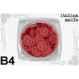 Italian Nails - Buźki Fimo - Woreczek 10 sztuk - B04