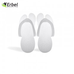Erbel - Klapki / Japonki Piankowe - Białe