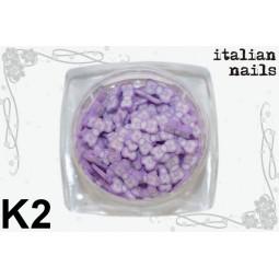 Italian Nails - Kokardki Fimo - Woreczek 10 sztuk - K02