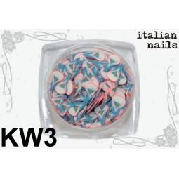 Italian Nails - Kwiatki Fimo - Woreczek 10 sztuk - KW03