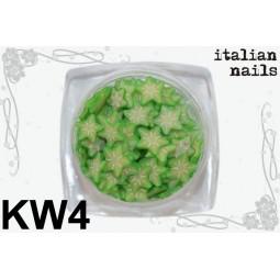 Italian Nails - Kwiatki Fimo - Woreczek 10 sztuk - KW04