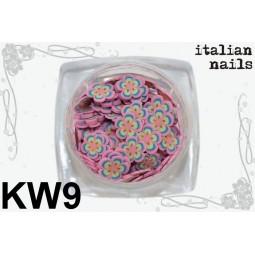 Italian Nails - Kwiatki Fimo - Woreczek 10 sztuk - KW09