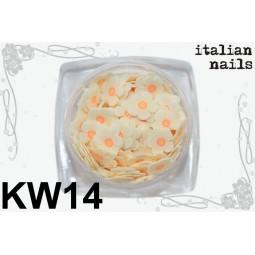 Italian Nails - Kwiatki Fimo - Woreczek 10 sztuk - KW14