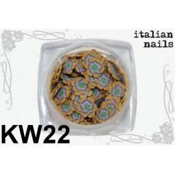Italian Nails - Kwiatki Fimo - Woreczek 10 sztuk - KW22