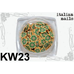 Italian Nails - Kwiatki Fimo - Woreczek 10 sztuk - KW23