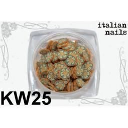Italian Nails - Kwiatki Fimo - Woreczek 10 sztuk - KW25