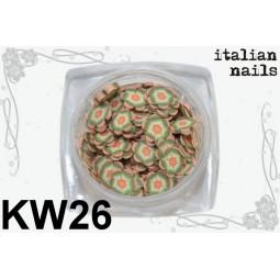 Italian Nails - Kwiatki Fimo - Woreczek 10 sztuk - KW26