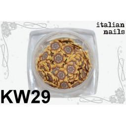 Italian Nails - Kwiatki Fimo - Woreczek 10 sztuk - KW29