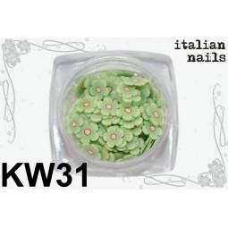 Italian Nails - Kwiatki Fimo - Woreczek 10 sztuk - KW31