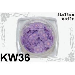 Italian Nails - Kwiatki Fimo - Woreczek 10 sztuk - KW36