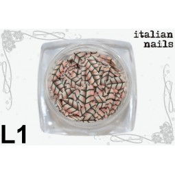 Italian Nails - Listki  Fimo - Woreczek 10 sztuk - L01