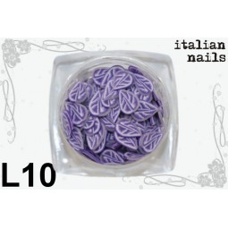 Italian Nails - Listki  Fimo - Woreczek 10 sztuk - L10