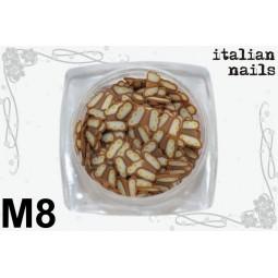 Italian Nails - Motylki Fimo - Woreczek 10 sztuk - M08