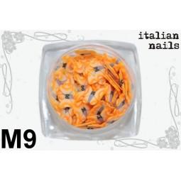 Italian Nails - Motylki Fimo - Woreczek 10 sztuk - M09