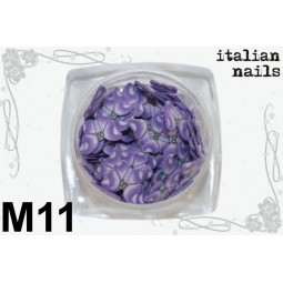 Italian Nails - Motylki Fimo - Woreczek 10 sztuk - M11