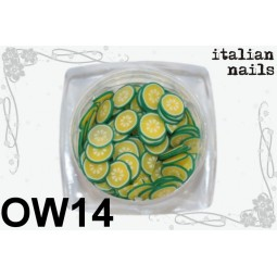 Italian Nails - Owoce Fimo - Woreczek 10 sztuk - OW14
