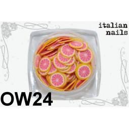 Italian Nails - Owoce Fimo - Woreczek 10 sztuk - OW24