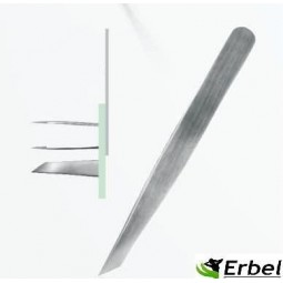Italian Nails - Pęseta nr 416 - Srebrna