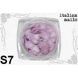 Italian Nails - Serduszka Fimo - Woreczek 10 sztuk - S07