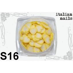 Italian Nails - Serduszka Fimo - Woreczek 10 sztuk - S16